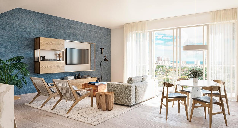 Block 40 - Residential Unit Living Room