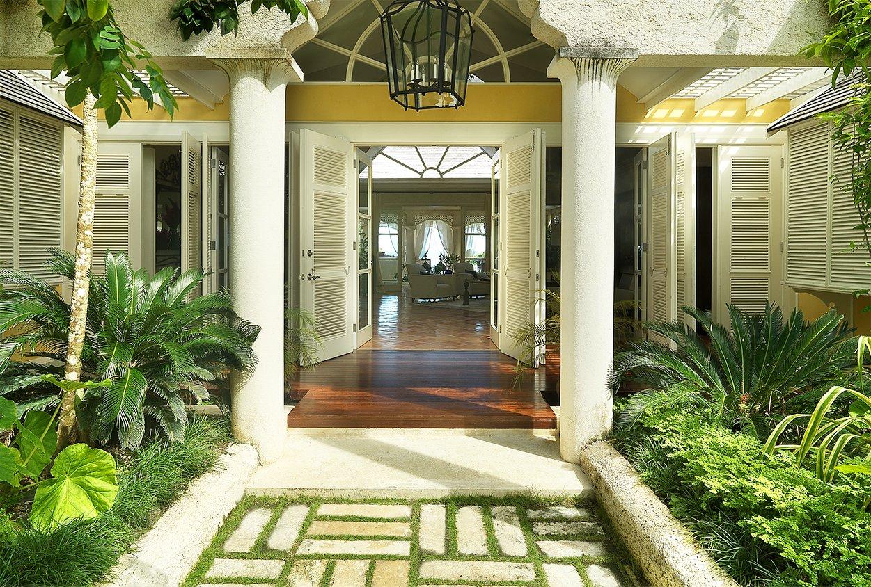 Front entrance to Roaring Pavilion, Jamaica