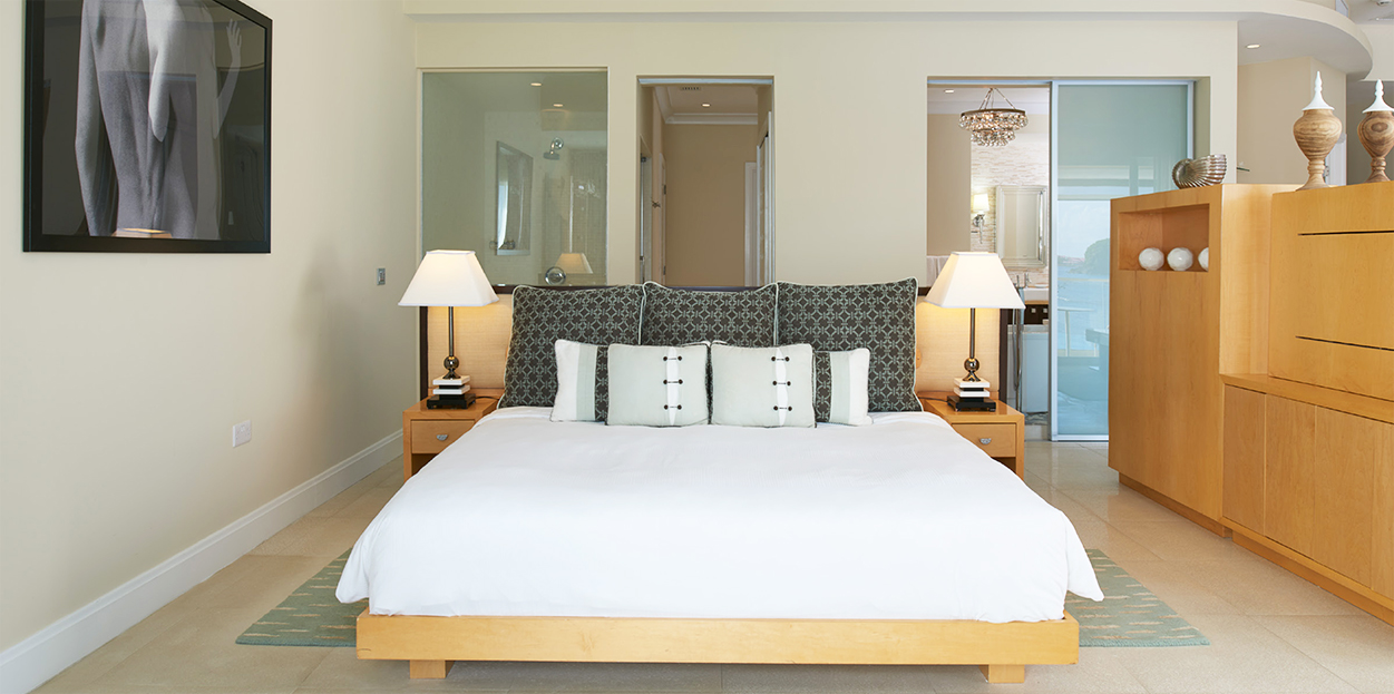 Bed and dressers at The Body Holiday