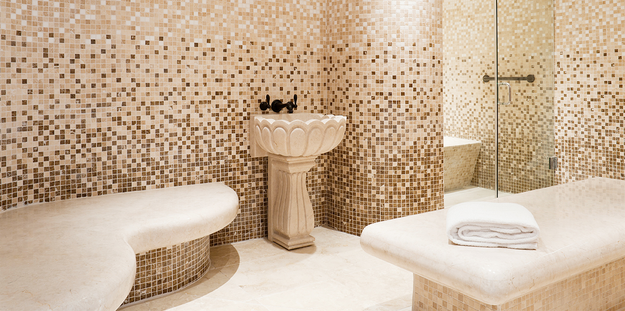Stone bathroom at The Body Holiday