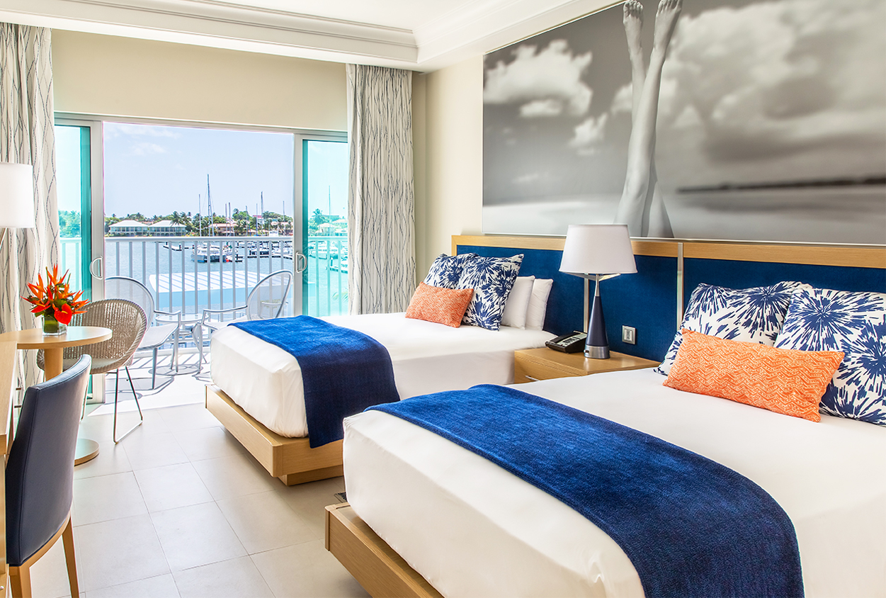 Two bed room with private balcony overlooking the water at The Harbor Club