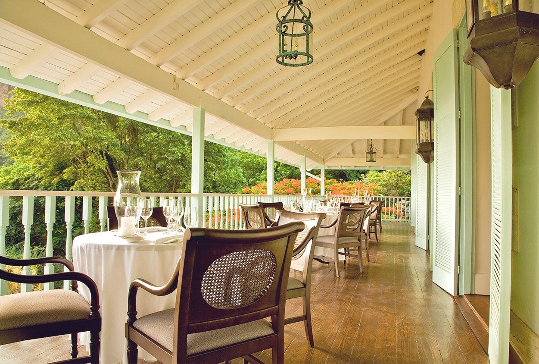 Dining on a balcony at Viceroy Sugar Beach