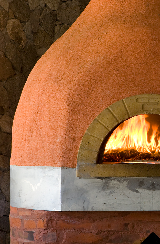Wood fired oven at Viceroy Sugar Beach