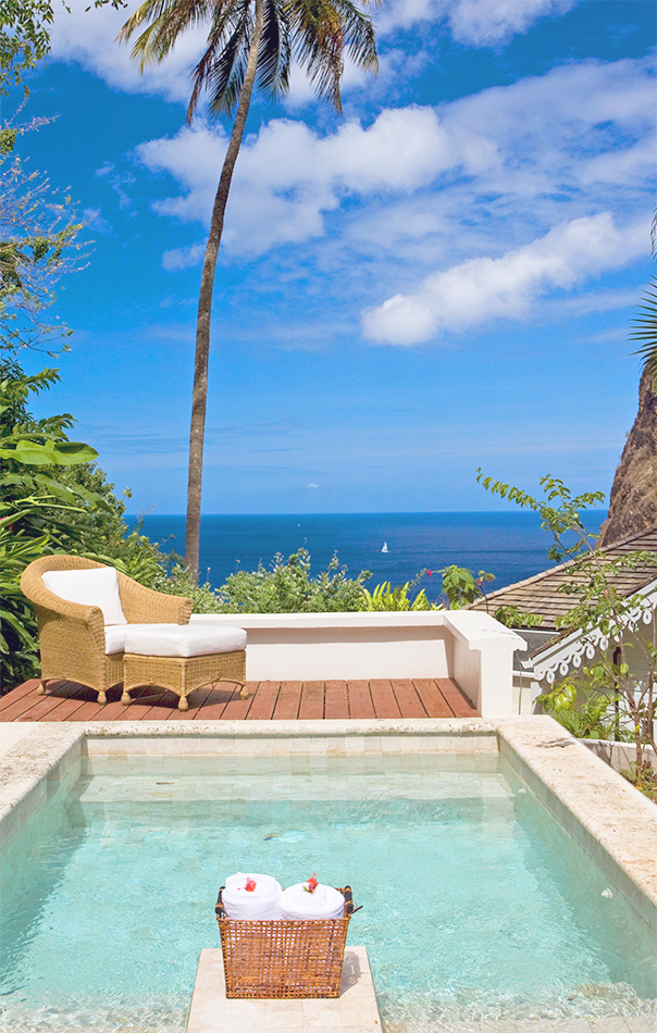 Private poolside seating at Viceroy Sugar Beach
