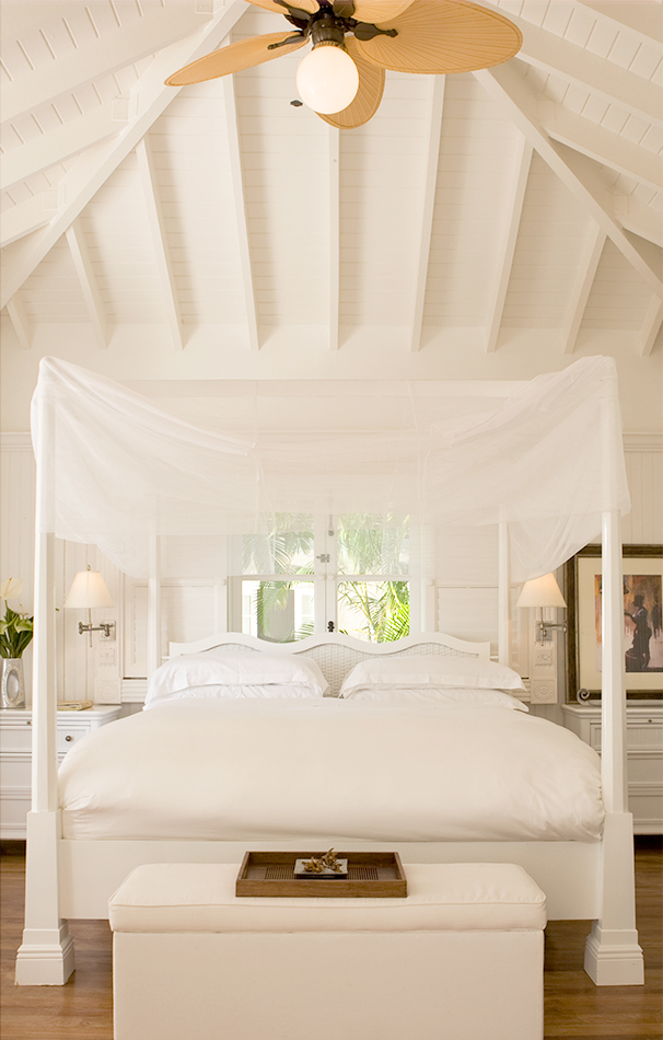 King sized canopy bed at Viceroy Sugar Beach