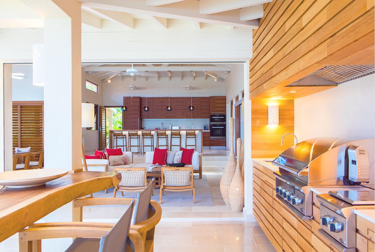 Jumby Bay Allamanda Kitchen and Living Room