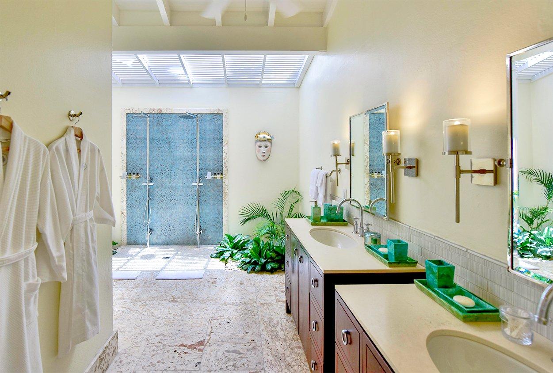 Bathroom of Blue Belle Villa in Jumby Bay