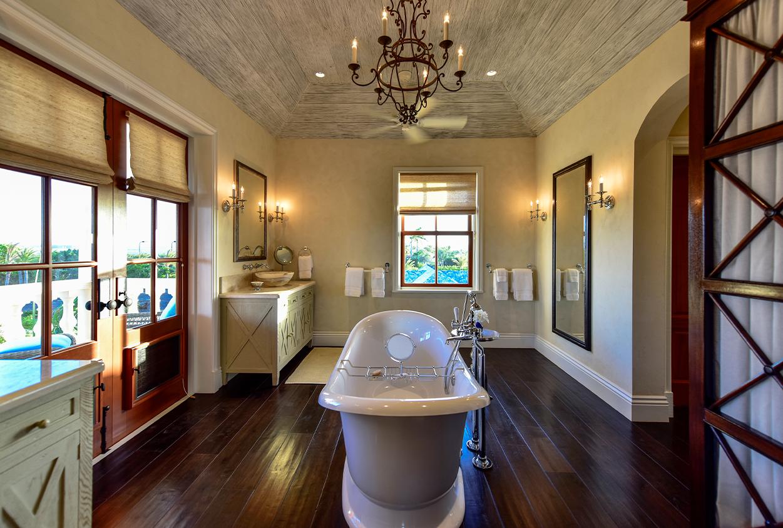 Bathtub in Jumby Bay private estate
