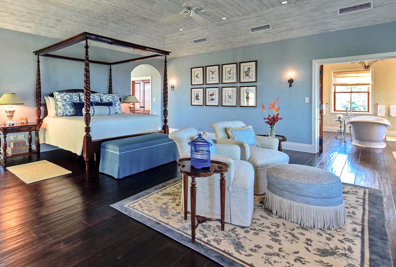 Bedroom in Jumby Bay private estate