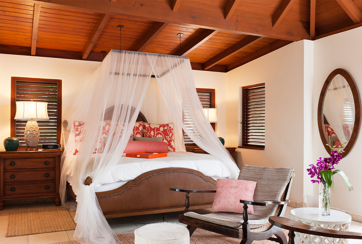 Another bedroom with a canopy bed in Tamarind Cove