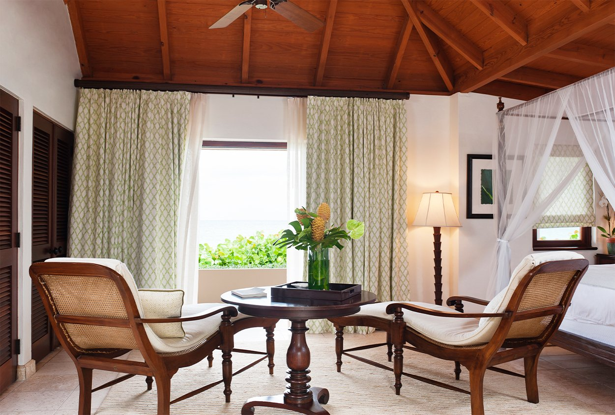 Seating in a bedroom in Tamarind Cove