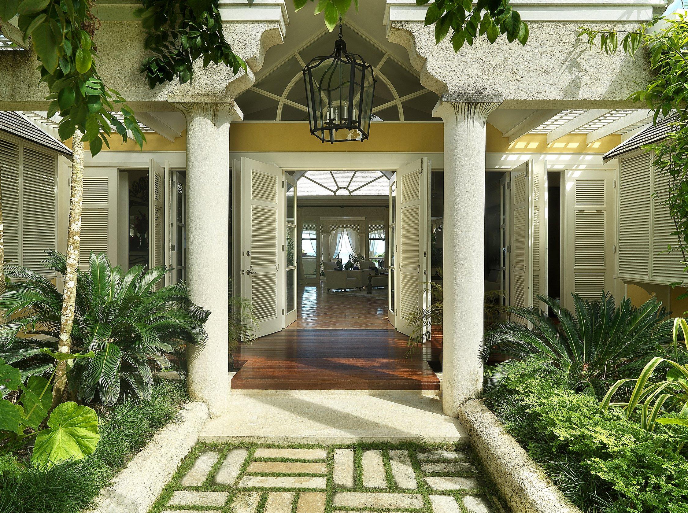 Entry Villa in the Caribbean