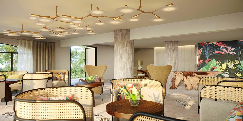 Caribbean luxury hotel Lobby
