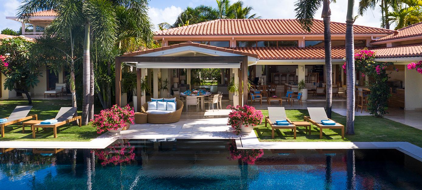 Allamanda Villa View of exterior open air living and pool